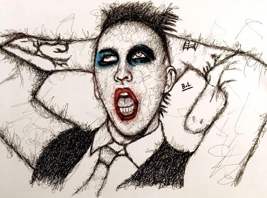 Marilyn Manson by bastienlalou